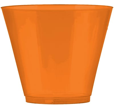 Amscan Big Party Pack 9oz Orange Plastic Cups, 2/Pack, 72 Per Pack (350366.05) 1970976