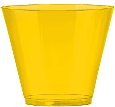 Amscan Big Party Pack 9oz Yellow Plastic Cups, 2/Pack, 72 Per Pack (350366.09) 1970975