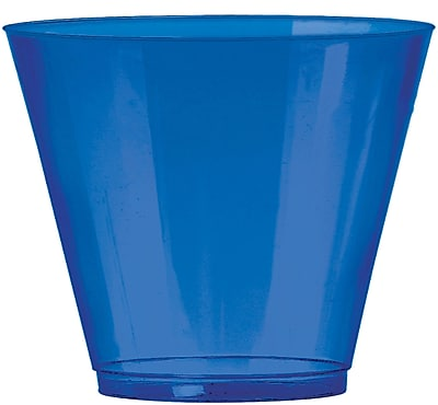 Amscan 9oz Bright Royal Blue Big Party Pack Plastic Cups, 2/Pack, 72 Per Pack (350366.105) 1970972
