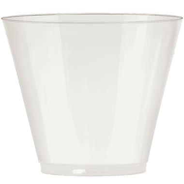Amscan Big Party Pack 9oz Pearl Plastic Cups, 2/Pack, 72 Per Pack (350366.128)