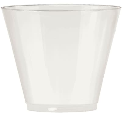 Amscan Big Party Pack 9oz Pearl Plastic Cups, 2/Pack, 72 Per Pack (350366.128)
