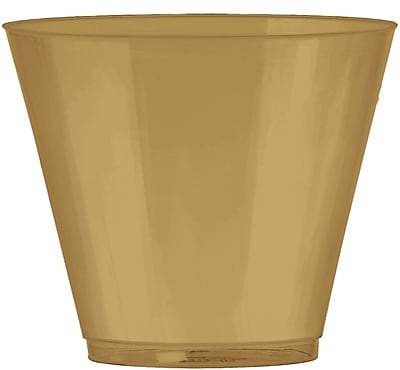 Amscan 9oz Gold Big Party Pack Plastic Cups, 2/Pack, 72 Per Pack (350366.19) 1970968