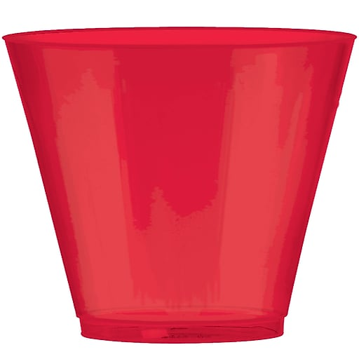 Amscan 9oz Red Big Party Pack Plastic Cups, 2/Pack, 72 Per Pack (350366.4)
