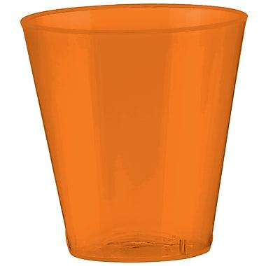 Amscan Big Party Pack 2oz Orange Peel Plastic Shot Glasses, 3/Pack, 100 Per Pack (357918.05)