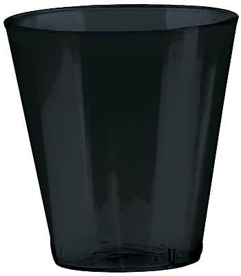 Amscan 2oz Jet Black Big Party Pack Plastic Shot Glasses, 3/Pack, 100 Per Pack (357918.1)