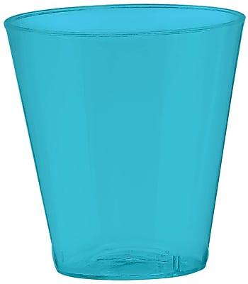 Amscan 2oz Caribbean Blue Big Party Pack Plastic Shot Glasses, 3/Pack, 100 Per Pack (357918.54)