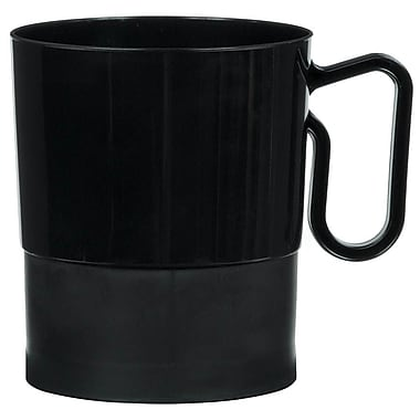 Amscan 8oz Black Plastic Coffee Cups, 2/Pack, 20 Per Pack (359630.1)