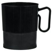 Amscan 8oz Black Plastic Coffee Cups, 2/Pack, 20 Per Pack (359630.1)