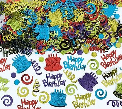 Amscan Happy Birthday Confetti, 5oz, 2/Pack (369117)
