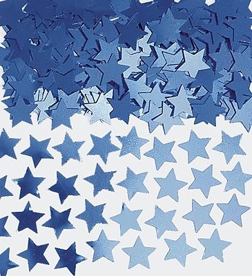 Amscan Mini Stars Confetti, 0.25oz, Blue, 24/Pack (369146.01)