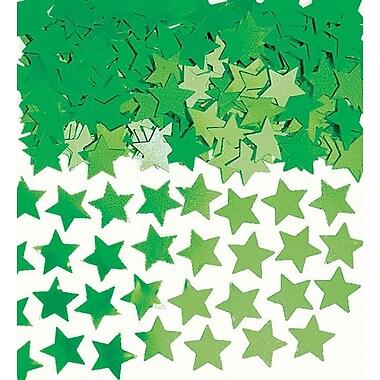 Amscan Mini Stars Confetti, .25oz, Green, 24/Pack (369146.03 )