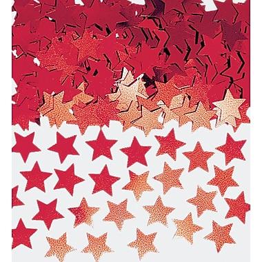 Amscan Mini Stars Confetti, 0.25oz, Red, 24/Pack (369146.07)