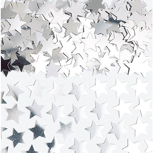Amscan Mini Stars Confetti, 0.25oz, Silver , 24/Pack(369146.18)
