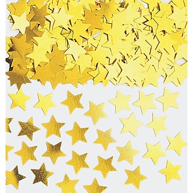 Amscan Mini Stars Confetti, 0.25oz, Gold, 24/Pack (369146.19)