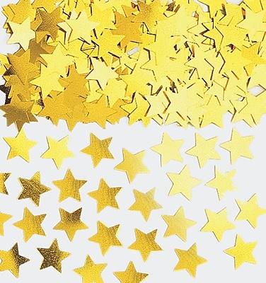 Amscan Mini Stars Confetti, 0.25oz, Gold, 24/Pack (369146.19)