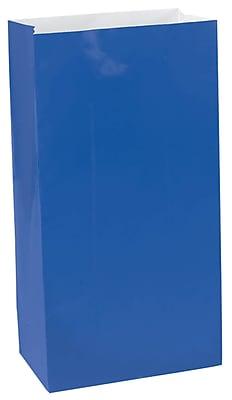 Amscan Mini Paper Bags, 6.5''H x 3''W x 2''D, Bright Royal Blue, 9/Pack, 12 Per Pack (370202.105)