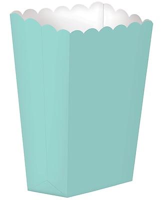 """""Amscan Paper Popcorn Boxes, 7.25""""""""H x 3.5""""""""W, Robin's Egg Blue, 4/Pack, 10 Per Pack (370207.121)"""""" 1971105"