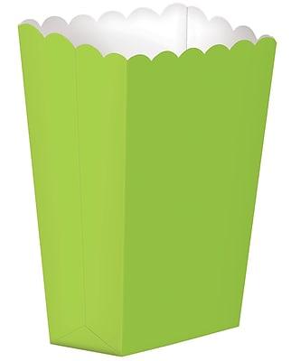 Amscan Paper Popcorn Boxes, 7.25''H x 3.5''W, Kiwi, 4/Pack, 10 Per Pack (370207.53)