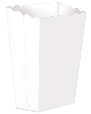Amscan Paper Popcorn Boxes, 5.25''H x 2.5''W, White, 12/Pack, 5 Per Pack (370221.08)