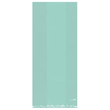 Amscan Cello Party Bags, 11.5''H x 5''W x 3.25''D, Robin's Egg Blue, 9/Pack, 25 Per Pack (379510.121)
