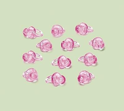Amscan Mini Pacifier Favor Pink, 1'', 6/Pack, 24 Per Pack (382340)