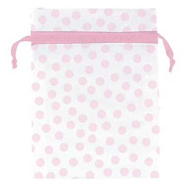 Amscan Pink Dot Organza Bag, 4