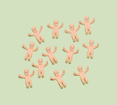 Amscan Tiny Baby Shower Favor Charm, 0.75'' x 1.5'', 8/Pack, 12 Per Pack (382366)
