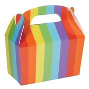 "Amscan Gable Boxes, 5.5""H x 2.38""W x 4.5""D, Rainbow, 24/Pack (395128.9)"