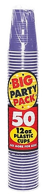 Amscan Big Party Pack 12oz Purple Cup, 5/Pack, 50 Per Pack (436800.106) 1970935