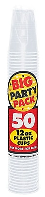 Amscan Big Party 12oz Clear Pack Cup, 5/Pack, 50 Per Pack (436800.86) 1970980