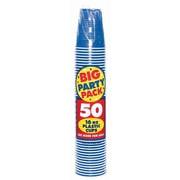 Amscan 16oz Royal Blue Big Party Pack Cup, 5/Pack, 50 Per Pack (436801.105)
