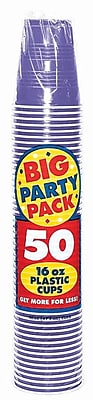 Amscan 16oz Purple Big Party Pack Cup, 5/Pack, 50 Per Pack (436801.106) 1970956