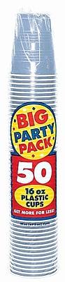 Amscan Big Party Pack 16oz Pastel Blue Cup, 5/Pack, 50 Per Pack (436801.108)
