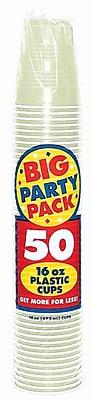 Amscan Big Party Pack 16oz, Leaf Green Cups, 5/Pack, 50 Per Pack (436801.115)