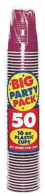 Amscan Big Party Pack 16oz Berry Cup, 5/Pack, 50 Per Pack (436801.27) 1970949