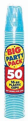 Amscan 16oz Caribbean Blue Big Party Pack Cup, 5/Pack, 50 Per Pack (436801.54) 1970947