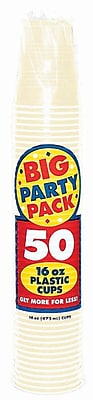 Amscan 16oz Vanilla Creme Big Party Pack Cup, 5/Pack, 50 Per Pack (436801.57)