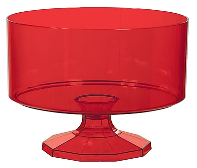 Amscan Trifle Container Medium, Red , 4/Pack (437842.4)