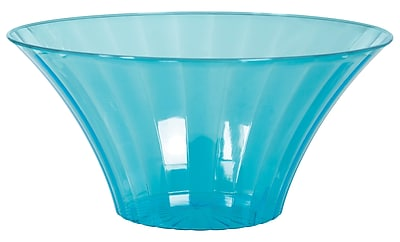 Amscan Medium Flared Bowl, Caribbean Blue, 12/Pack (437881.54) 1971029