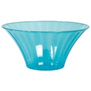 Amscan Medium Flared Bowl, Caribbean Blue, 12/Pack (437881.54)