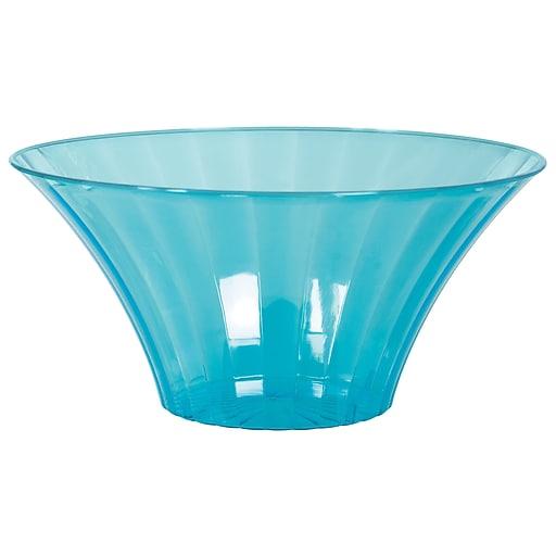 Amscan Medium Flared Bowl, Caribbean Blue, 12/Pack (437881.54)