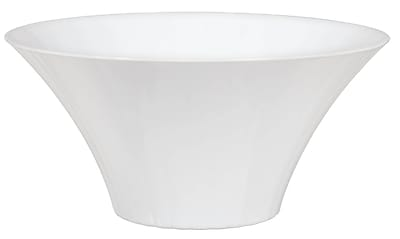 Amscan Large Flared Bowl, White, 8/Pack (437882.08)