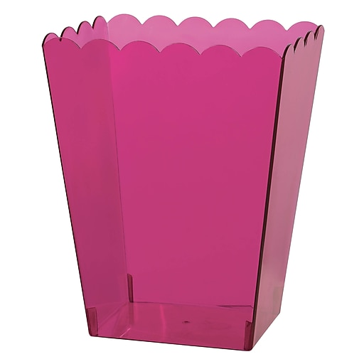 """Amscan Medium Scalloped Container, 6""""H x 3""""W x 4""""D, Bright Pink, 12/Pack (437896.103)"""