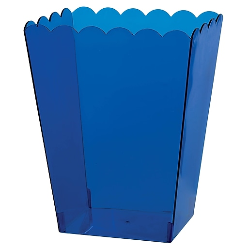 """Amscan Medium Scalloped Container, 6""""H x 3""""W x 4""""D, Royal Blue, 12/Pack (437896.105)"""