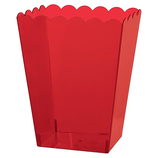 "Amscan Medium Scalloped Container, 6""H x 3""W x 4""D, Red, 12/Pack (437896.4)"