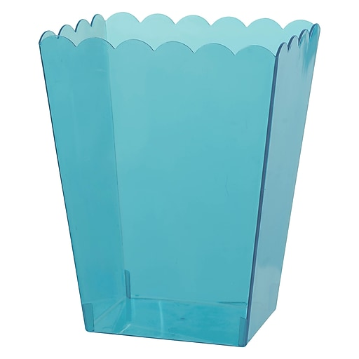 """Amscan Medium Scalloped Container, 6""""H x 3""""W x 4""""D, Caribbean Blue, 12/Pack (437896.54)"""