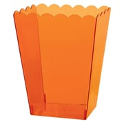 Amscan Scalloped Container Large, 7.5''H x 4.25''W x 3.25''D, Orange, 8/Pack (437897.05)