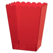 Amscan Scalloped Container Large, 7.5''H x 4.25''W x 3.25''D, Red, 8/Pack (437897.4)