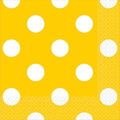 Amscan Polka Dots Beverage Napkins, 5