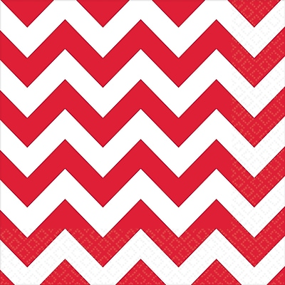 Amscan Chevron Lunch Napkins, 6.5